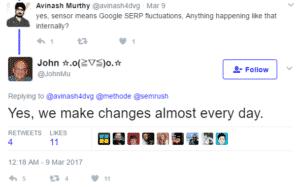 رنک سایت تغییرات الگوریتم سئو