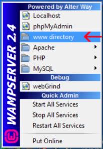 Web Hosting at WAMP