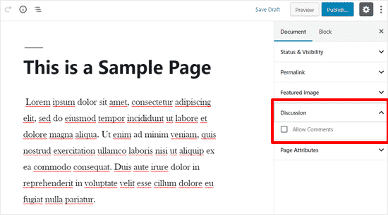 [تصویر:  comment-options-wordpress-pages.png]